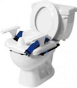 Small Rifton Blue Wave Toilet Seat