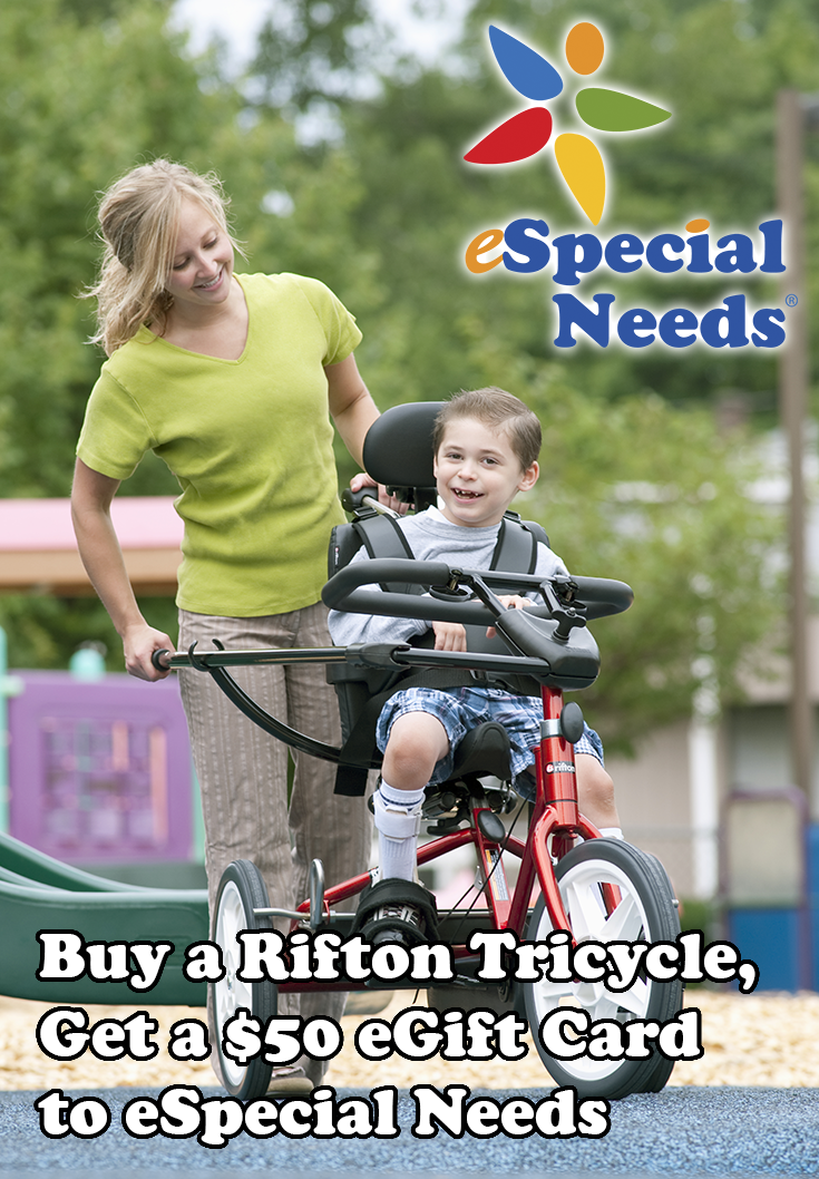 Buy A Rifton Tricycle Get A 50 Especial Needs Egift Card