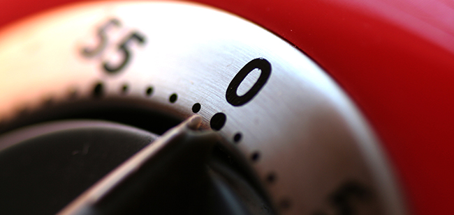 """""""Timer at 0"""" by nicholos will is licenced under CC BY-SA 2.0 / Cropped from original"""